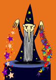 Sorcerer - vector Royalty Free Stock Photo