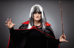 Sorcerer with a wand Royalty Free Stock Photo