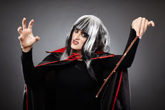 Sorcerer with a wand Royalty Free Stock Photography