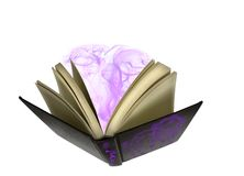 The Sorcerers Book. A sorcerers book with spurts of magic and smoke coming from the inside Royalty Free Stock Photos