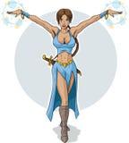 Sorceress bonito ilustração royalty free