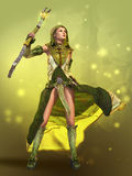 The Sorceress 3d CG Royalty Free Stock Photos