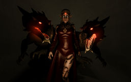Sorceress Dragon kin Stock Photos