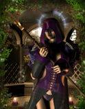 Sorceress Mystical con un guidacarta Fotografia Stock