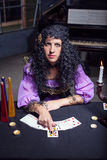 Sorceress telling fortunes Royalty Free Stock Images