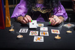 Sorceress telling fortunes Royalty Free Stock Image
