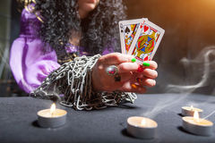 Sorceress telling fortunes Stock Photography
