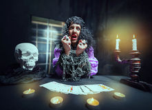 Sorceress telling fortunes Stock Images