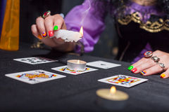 Sorceress telling fortunes Stock Photos