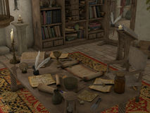 Sorcery Room. A sorcery room with lot piece of magic vector illustration