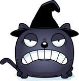 Sorcière Cat Angry de bande dessinée Image stock