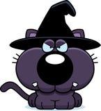 Sorcière Cat Angry de bande dessinée Photos stock