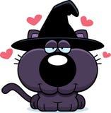 Sorcière Cat Love de bande dessinée Images stock