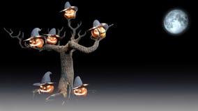 Sorcière de Halloween avec le potiron 3d rendre illustration stock