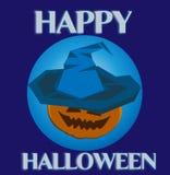 Sorcière de Halloween dans le chapeau Image stock