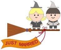 Sorcières mariées Photos libres de droits