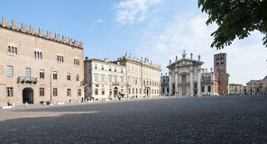 Sordello square mantua lombardy italy europe. Partial view of the cathedral with sordello square in mantua Royalty Free Stock Photos