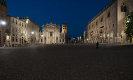 Sordello square night mantua lombardy italy europe Royalty Free Stock Photo