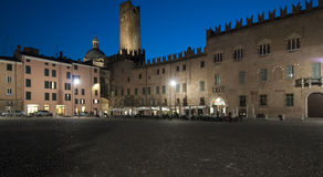 Sordello square night mantua lombardy italy europe Stock Photo