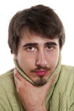 Sore throat Stock Photo