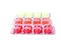 Sore throat pills. Beautiful shot of sore throat pills on white background Stock Image