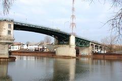 Sorel-Tracy bridge. Vieux pont Sorel-Tracy QC old bridge Royalty Free Stock Photography