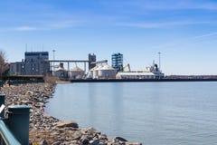 Sorel-Tracy industriële haven Quai no2 Stock Afbeelding