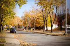 Sorel-Tracy stad på nedgången Royaltyfri Bild