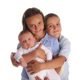 Sorella e fratelli fotografia stock