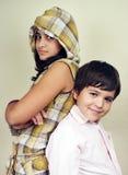 Sorella e fratello Fotografia Stock Libera da Diritti