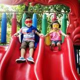 Sorella Girl Boy Kid Joy Playful Leisure Concept del fratello immagini stock