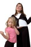 Sorella, sorella! Su bianco fotografia stock libera da diritti