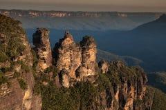 Sorella tre in montagne blu parco nazionale, Sydney Fotografie Stock