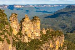 Sorella tre nel parco nazionale blu delle montagne del punto di eco Immagini Stock Libere da Diritti