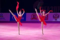Sorelle Dina e Arina Averina Fotografia Stock