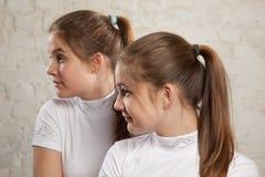 Sorelle gemelli Fotografie Stock