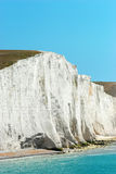 Sorelle Inghilterra della scogliera di gesso del primo piano sette Fotografie Stock Libere da Diritti