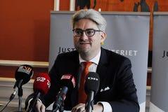 SOREN PIND_MINISTER ΓΙΑ ΤΗ ΔΙΚΑΙΟΣΎΝΗ Στοκ εικόνες με δικαίωμα ελεύθερης χρήσης