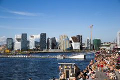 Sorenga und Strichkode builings in Oslo Lizenzfreie Stockfotografie