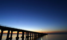 Sorento Jetty - Australia. Shot just after sunset stock image