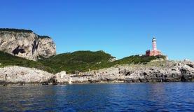 Sorento kust- sikter från fyrbilden Arkivbilder
