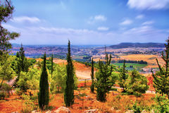 The Soreq Avshalom Cave Travel in Israel. Is very beautiful Stock Photo