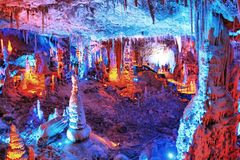 The Soreq Avshalom Cave Travel in Israel. Is very beautiful Royalty Free Stock Photo