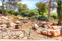 The Soreq Avshalom Cave Travel in Israel-w33. The Soreq Avshalom Cave Travel in Israel The Soreq Avshalom Cave Travel in Israel royalty free stock image