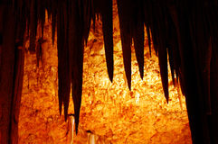 Soreq Cave in Israel. Stalactite in Soreq Avshalom Cave located in the Judean Mountains, Israel Royalty Free Stock Image