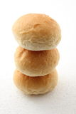 Sorft bread roll. Soft white bread roll on white background stock image