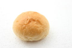 Sorft bread roll. Soft white bread roll on white background stock photos