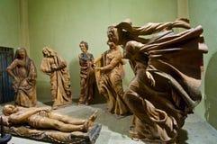 Sorg över döda Kristusstatyer Arkivbild