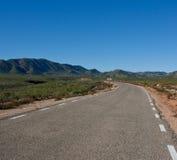 sorgente in anticipo della strada del deserto Immagini Stock