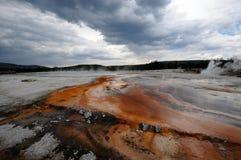 Sorgente calda del Yellowstone Fotografia Stock Libera da Diritti